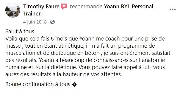 Yoann Ryl Coach Sportif Nutritionniste Avis